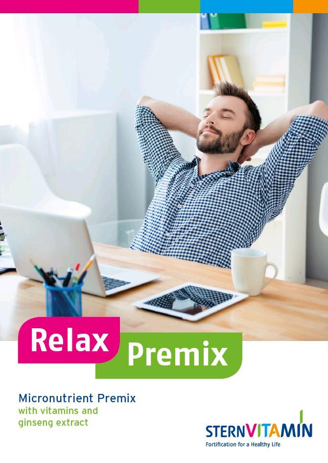 Coverbild Flyer zu Premix Konzept Anti Stress und Müdigkeit