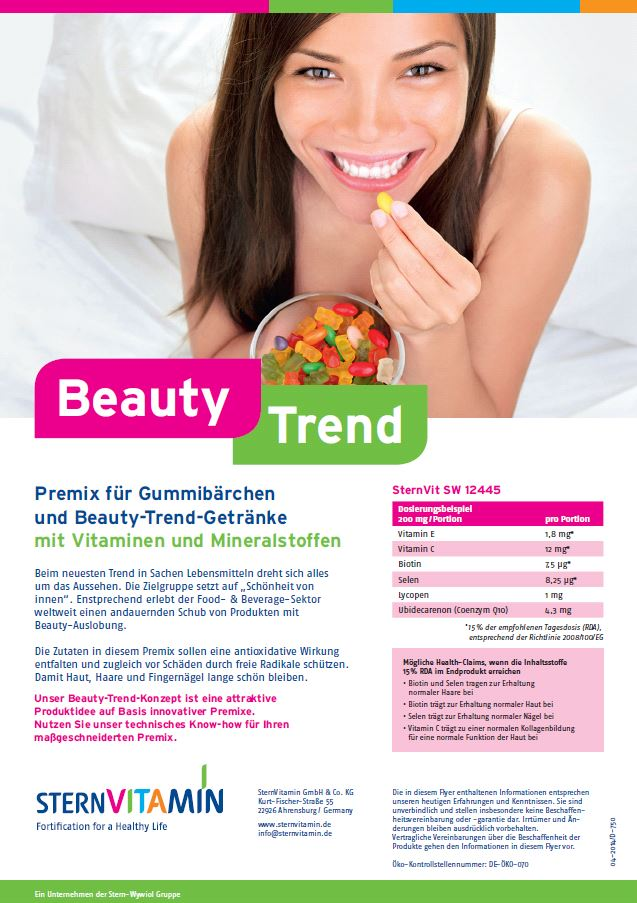 Coverbild Flyer zu Premix Konzept BEAUTY-Trend