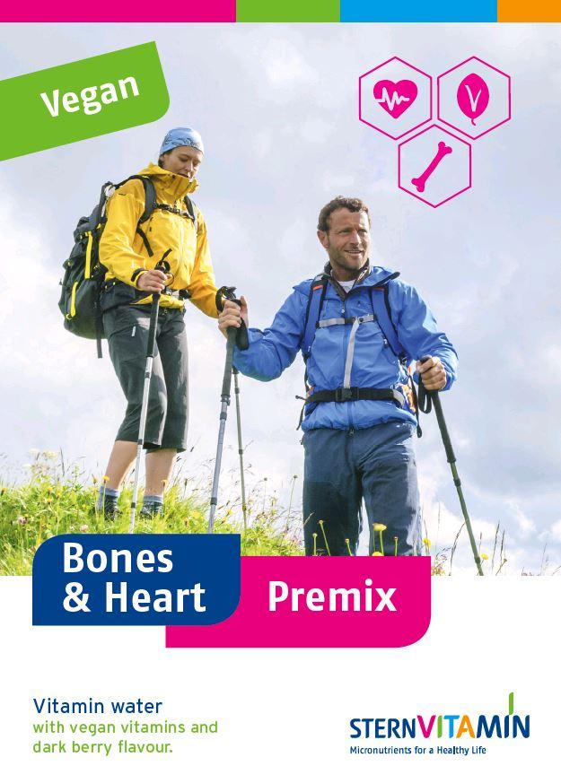 Coverbild Flyer zu Premix Konzept für Knochen und Herzgesundheit