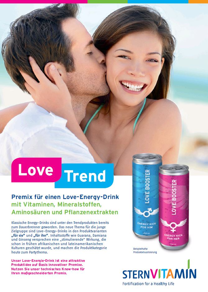 Coverbild Flyer zu Premix Konzept LOVE-Energydrink