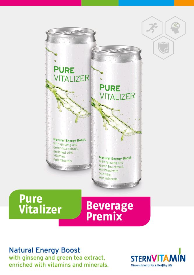 Coverbild Flyer zu Premix Konzept Pure Vitalizer Natural Energy Drink