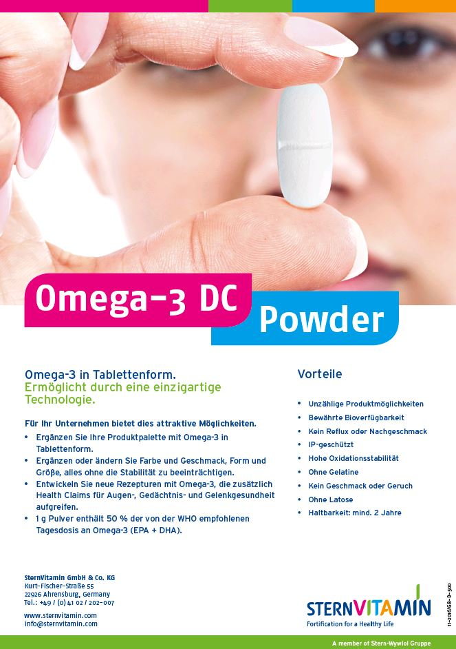 Coverbild Flyer Omega-3 DC in Tablettenform