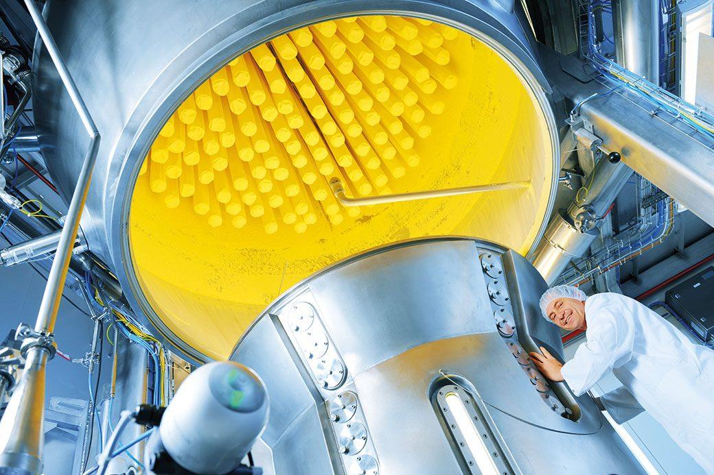 Wir setzen auf moderne Technologien wie die Wirbelschichttechnik.